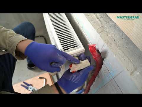 Установка стального панельного радиатора с боковым подключением