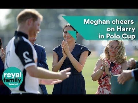 Meghan, the Duchess of Sussex, cheers on Prince Harry at Sentebale Polo Cup