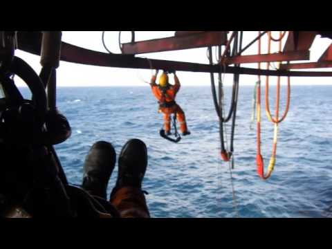 Rope Access underdeck offshore - beam trolley aid