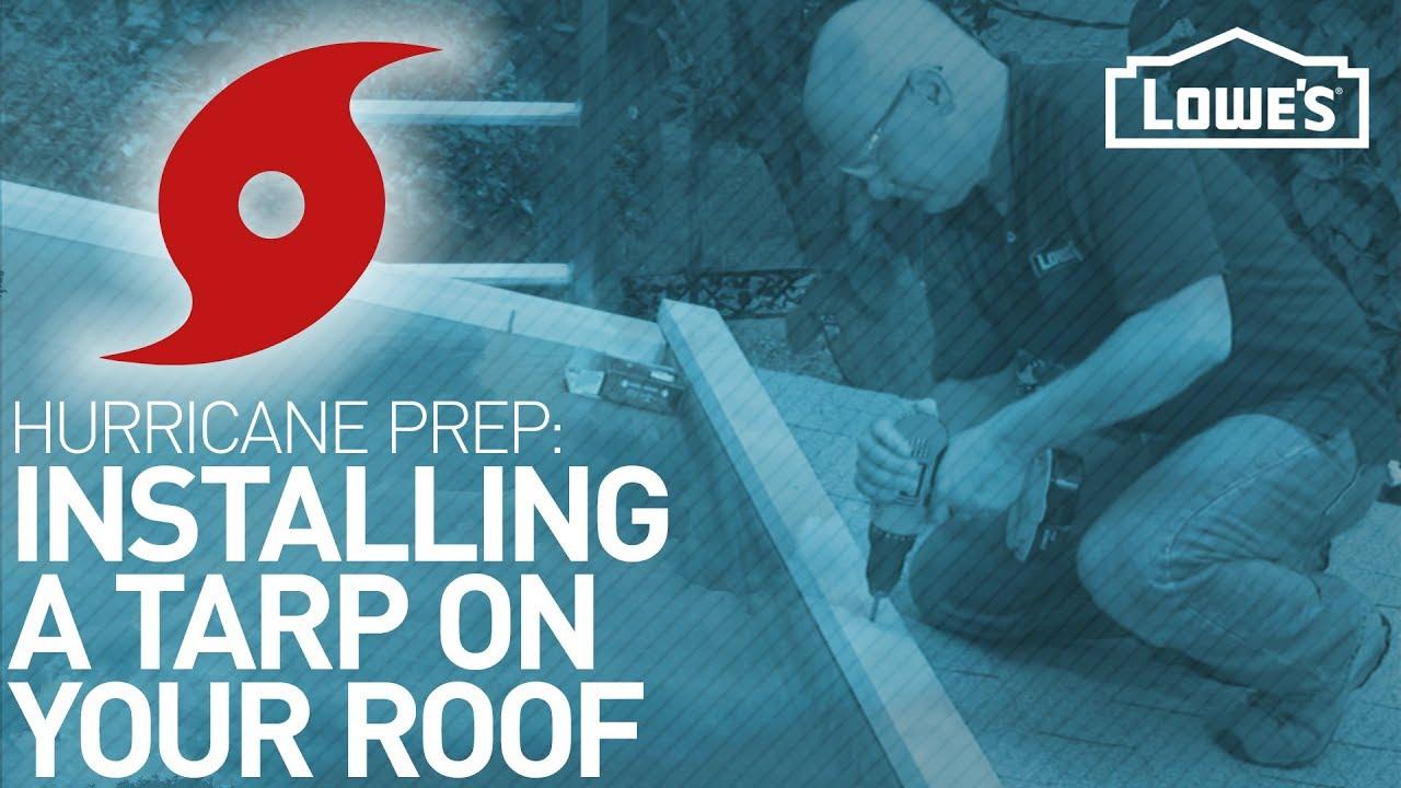 How To Tarp A Roof Hurricane Prep Youtube