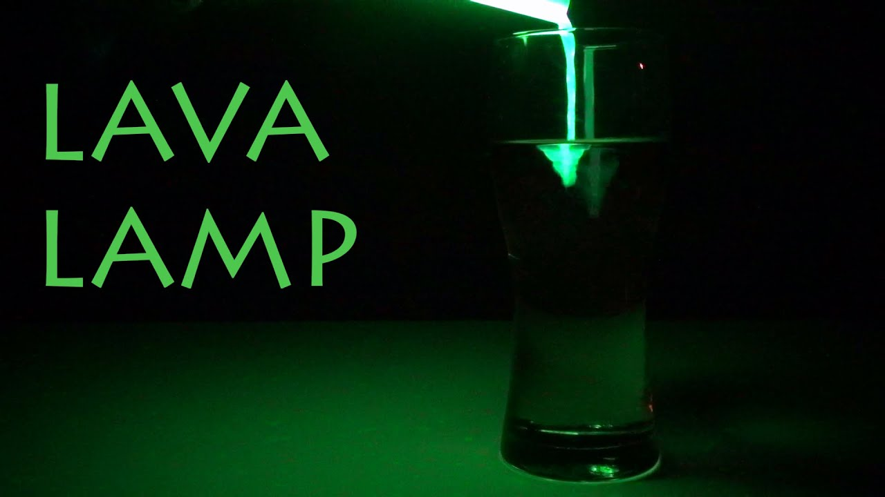 LAVA LAMP Chemistry Experiment - YouTube