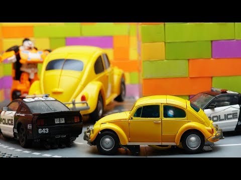 Transformers Bumblebee Movie Animation Autobots Robot Truck Lego Prison Break & Police Car for Kids