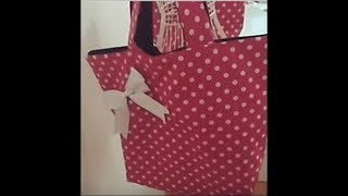 Çanta dikimi. How to make a shopping bag