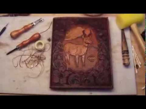 Making a leather book cover youtube solutioingenieria Choice Image