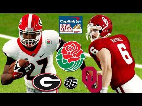 NCAA Football 18🌹 Rose Bowl Game 2018 #3 Georgia vs #2 Oklahoma College Football Playoff Semi Final!