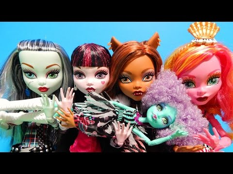 Monster High 17 Inch Dolls Frightfully Tall Ghouls Frankie Clawdeen Draculaura Toy Deboxing Review
