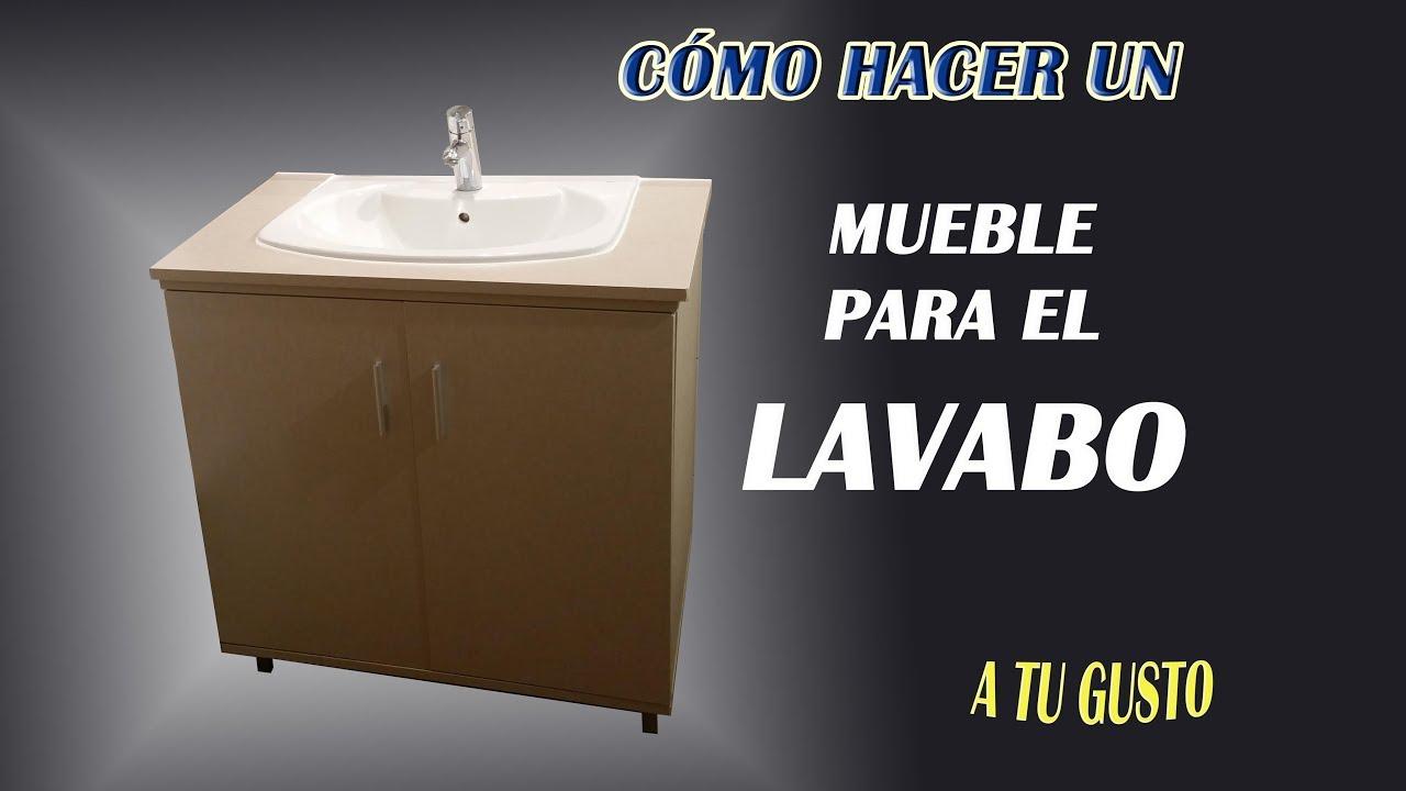 Diy c mo hacer un mueble para el lavabo youtube - Muebles para el lavabo ...
