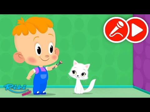 Привет, малыш! Сборник про кошку - Песенка и караоке - развивающие мультфильмы