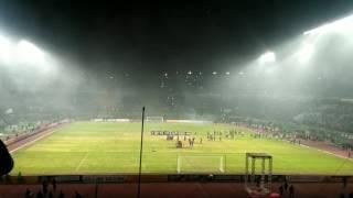 Bonek Legalizer Pyro Show , Anniversary Persebaya Surabaya 90 To Champions