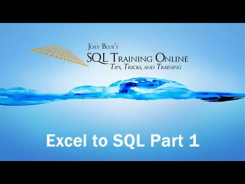 Excel To SQL Server with Import Export, Bulk Insert and BCP