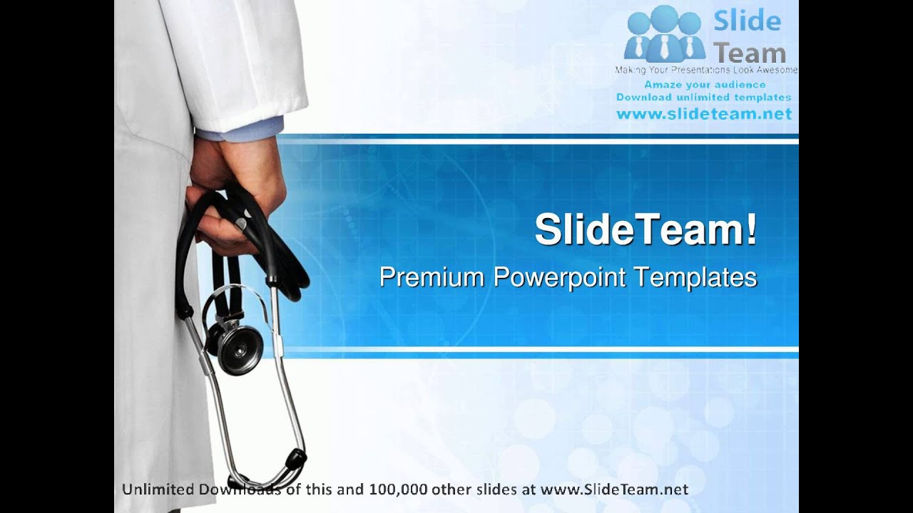 doctor with stethoscope medical powerpoint templates themes and, Powerpoint templates