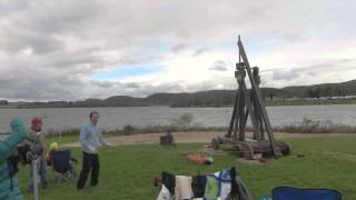 Punkin Chunkin Trebuchet // Homemade Science with Bruce Yeany