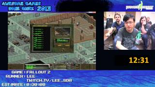 Fallout 2 Speed Run in 0 27 27 by Lee 1 handed Live for Awesome Games Done Quick 2013