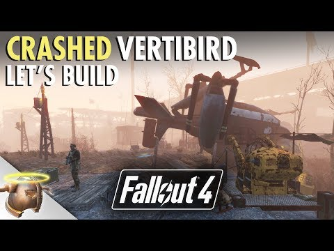 CRASHED VERTIBIRD at Outpost Zimonja   Fallout 4 Let's Build