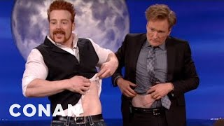 WWE Champ Sheamus Body Slams Conan's Hair Into Shape - CONAN on TBS