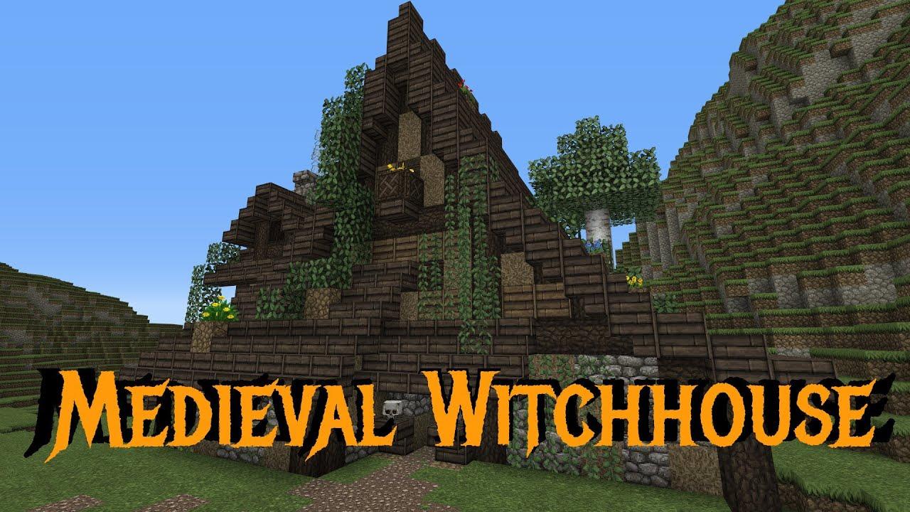 Free House Blueprints Minecraft Gundahar Tutorials Medieval Witchhouse Youtube