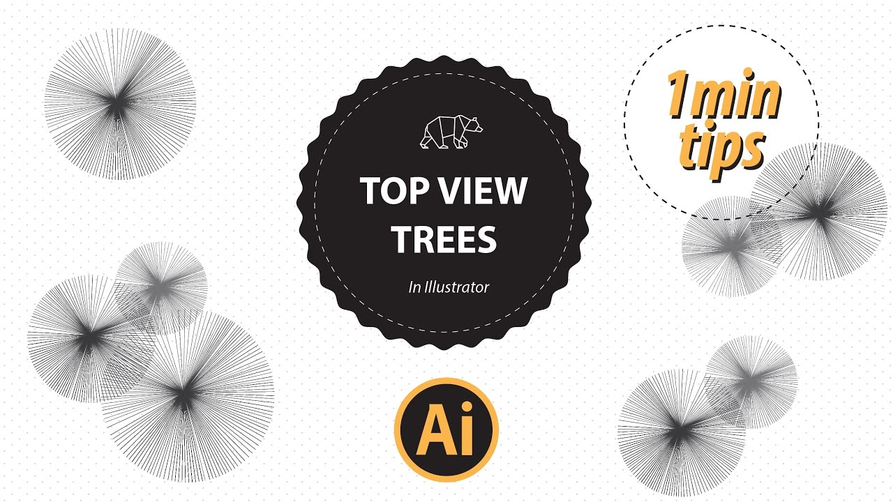 Top View Trees Vector In Illustrator | The Design Student