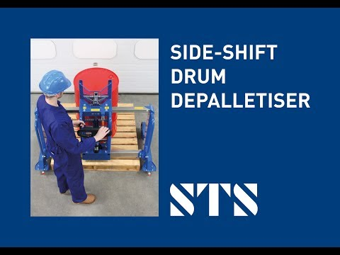 STS - Side-Shift Drum Depalletiser (DTP04) Lift Drums Off Pallets, Drum Lifter