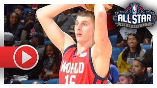 Nikola Jokic Full Highlights vs USA (2017 BBVA Rising Stars Challenge) - 12 Pts, 11 Reb, 8 Ast