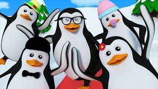 Five Little Penguins | Kindergarten Nursery Rhymes For Kids