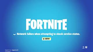 Fortnite bug (network failure When attempting to check service status)