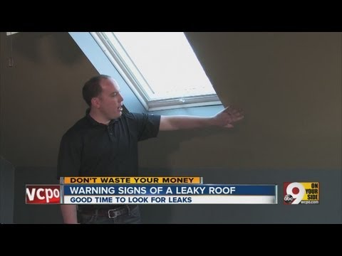 Warning signs of a leaky roof