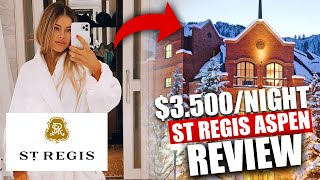St Regis Aspen Colorado Luxury Hotel Review Vlog inc Room Tour