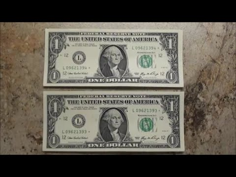SEQUENTIAL STAR NOTES bank strap hunting U.S. $1 bills