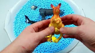 Узнайте имена морских животных и зоо животных Крокодил Видео Игрушки для детей