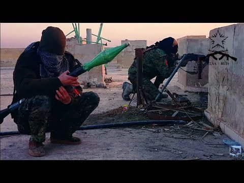 Actual footage of anarchists fighting against ISIS in the Battle of Raqqa (Syria War)