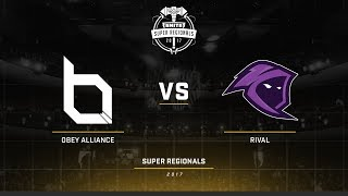 Smite Super Regionals 2017 EU Finals Obey Alliance vs Team Rival Game 4