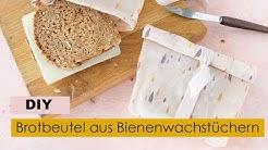 Brotbeutel aus Bienenwachstüchern 🐝 | Nachhaltiges DIY ✂️