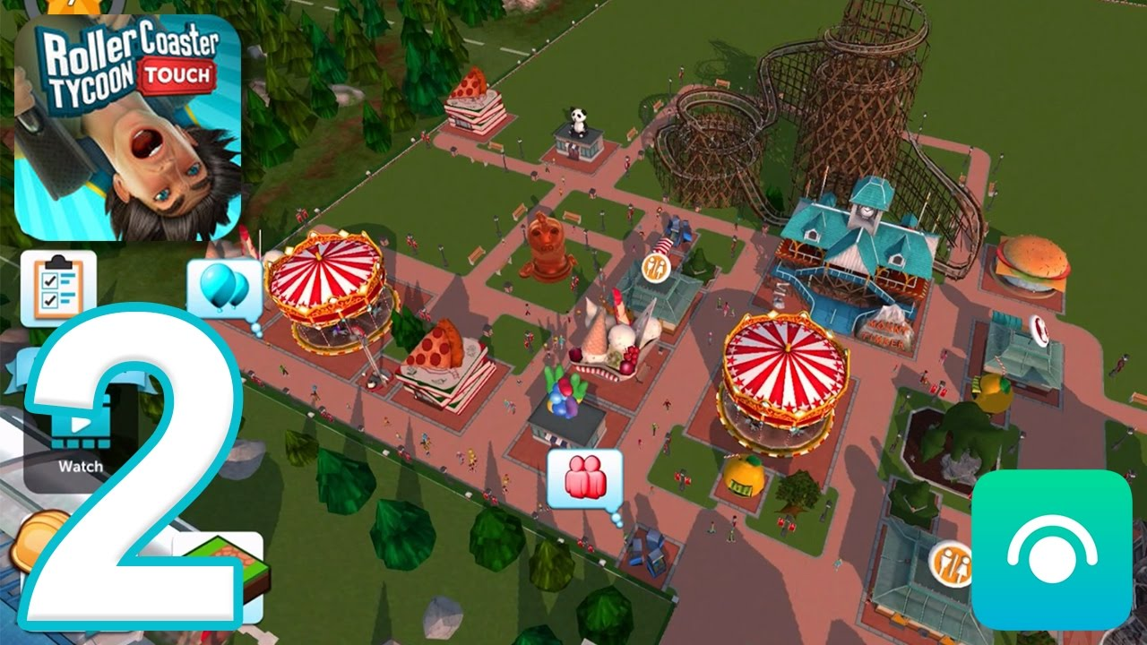 RollerCoaster Tycoon Touch - Gameplay Walkthrough Part 2 - Level 6-7 (iOS)