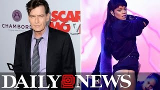 Charlie Sheen reignites feud with Rihanna