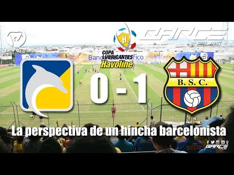 Delfín S.C 0 vs Barcelona S.C 1 fecha 4 primera etapa CLH2018