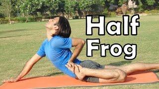 Half Frog Pose   Ardha Bhekasana   2 Minutes Backbends Yoga Health