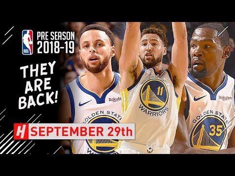 Stephen Curry, Kevin Durant & Klay Thompson Full Highlights vs Timberwolves 2018.09.29 - SICK!