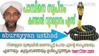 പ മ പ ന സ വപ ന കണ ട ൽ വ യ ഖ യ ന എന ത aburayyan usthad