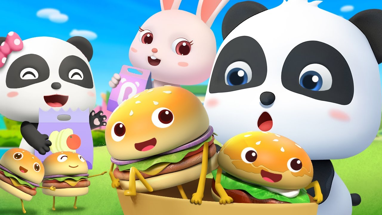 Yummy Burgers and French Fries for Kids | Learn Colors | Nursery Rhymes | Kids Songs | BabyBus