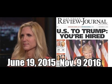 FlashBack: Ann Coulter Got Laughed At For Predicting Trump Win More Than a Year Ago