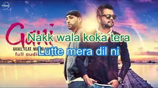 Gani by Akhil Karaoke With Lyrics