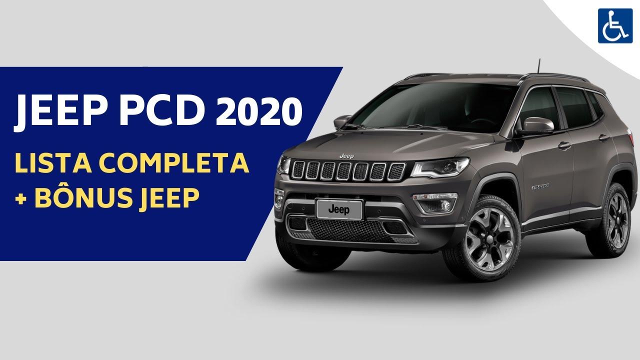 Jeep Pcd 2020 Lista Completa Bonus Jeep Youtube