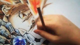 Drawing Tsuna Sawada from Kateikyo Hitman Reborn
