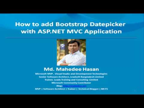 How to add Bootstrap Datepicker in ASP NET MVC Application