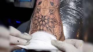 Mandala/Geometric Dotwork Tattoo || Tattoo villa