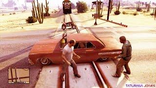 GTA 5 - Nunca brigue em cima dos trilhos !