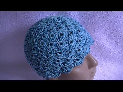 Вязаные шапки крючком для женщин схемы