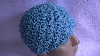 Вязание летней шапки крючком.Knitting hats crochet years