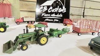 Amazing 1/64 Custom Farm Toys on Display at the 2018 Toy Tractor Times Dinner