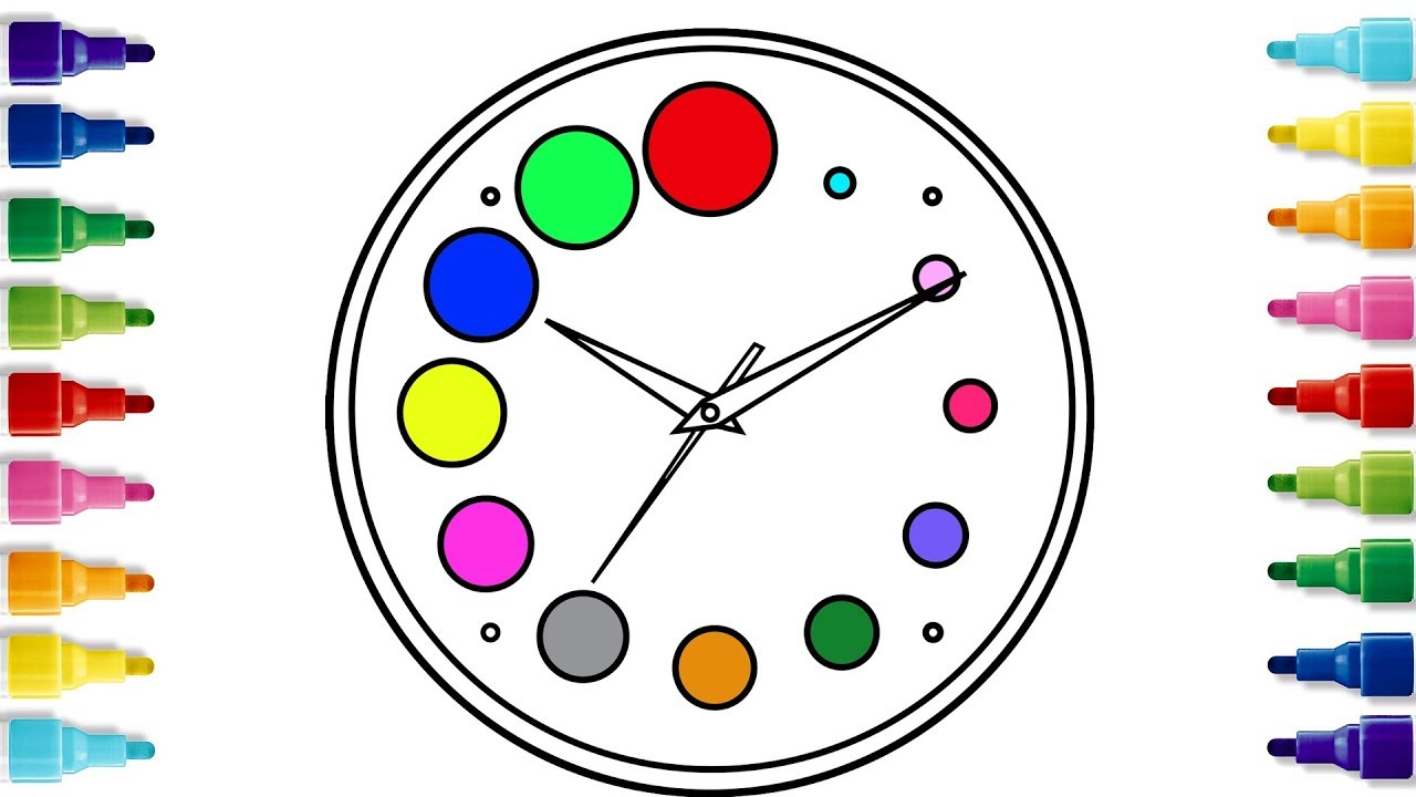 How To Draw A Wall Clock And Alarm